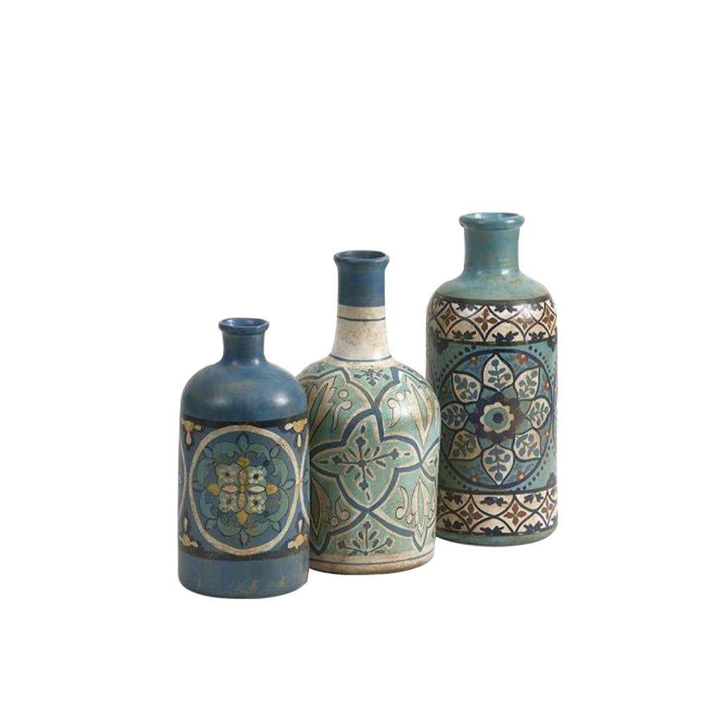 Kabir Hand-Painted Bottles (Set of 3)