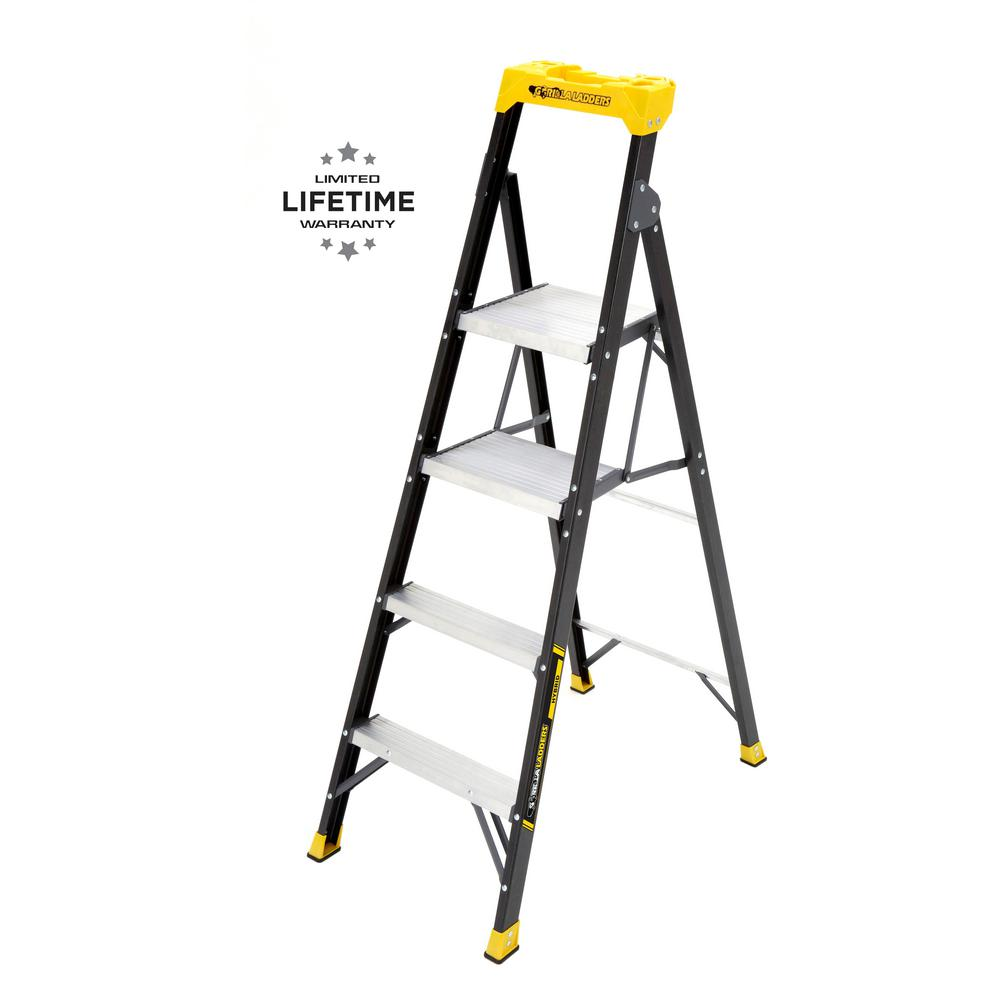 Gorilla Ladders 5 5 ft  Fiberglass Hybrid Ladder with 250 lbs  Load  Capacity Type I Duty Rating (Comparable to 6 ft  Step Ladder)
