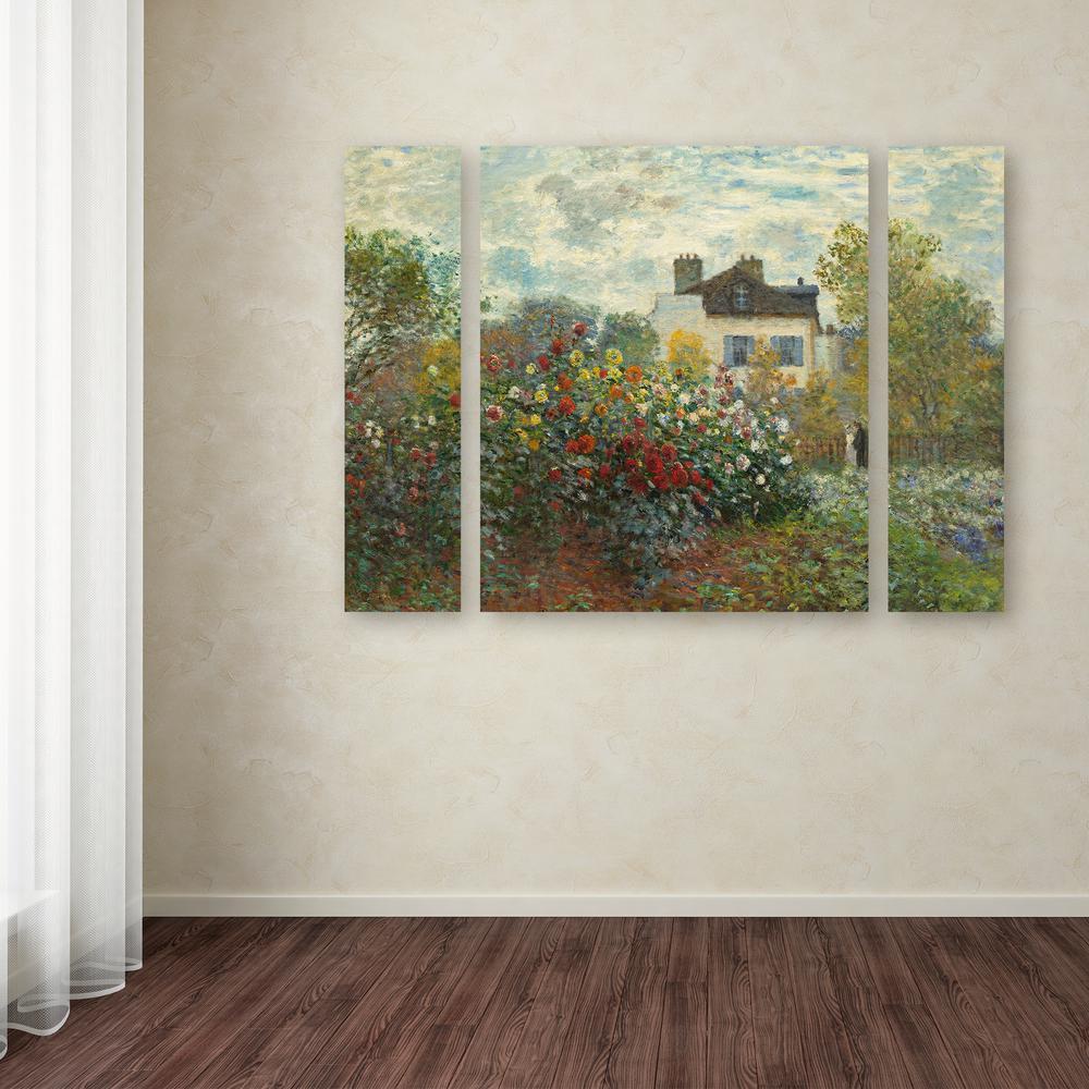 """24 in. x 32 in. """"Artist's Garden In Argenteuil"""" by Claude"""