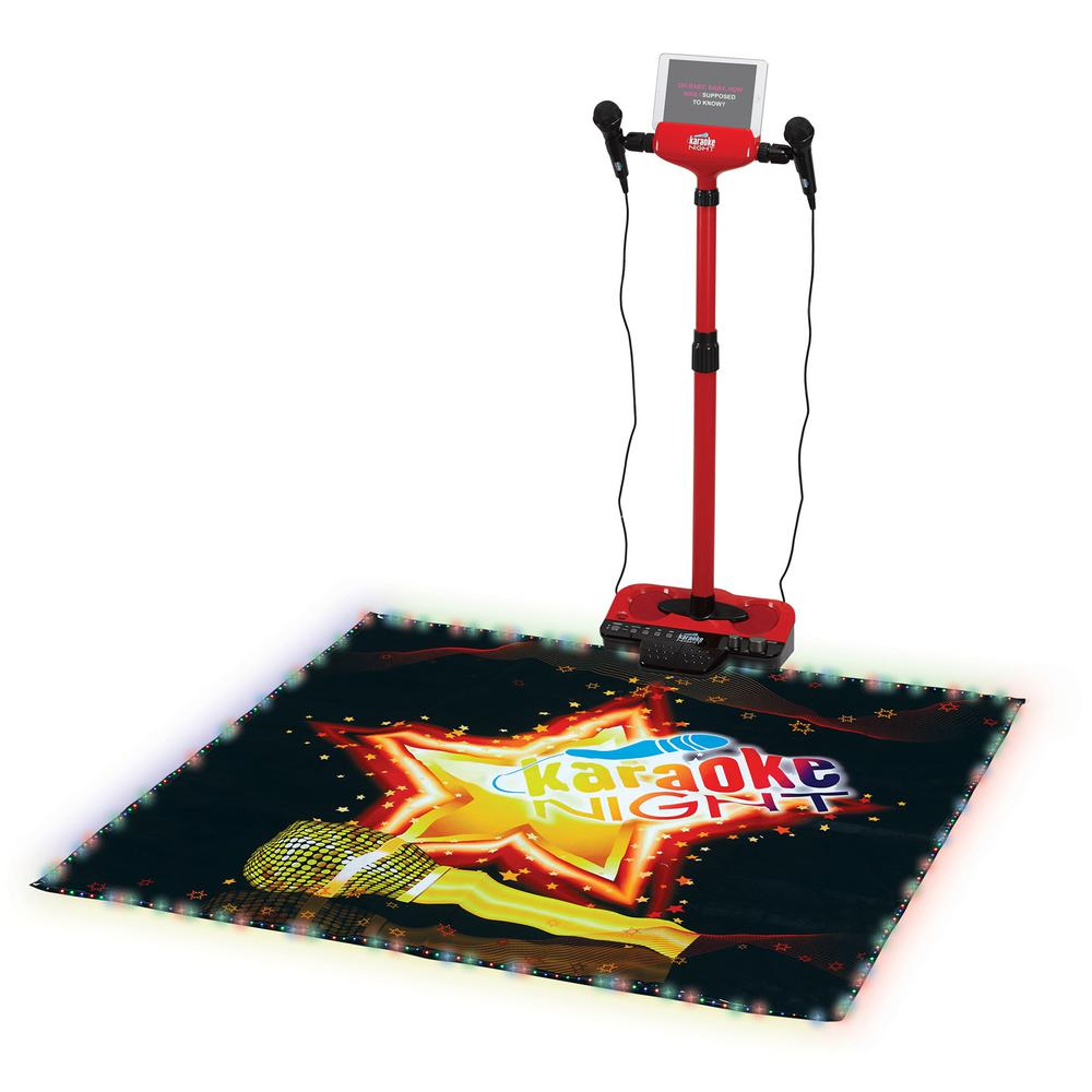Karaoke Machine with Lighted Stage Mat, Red