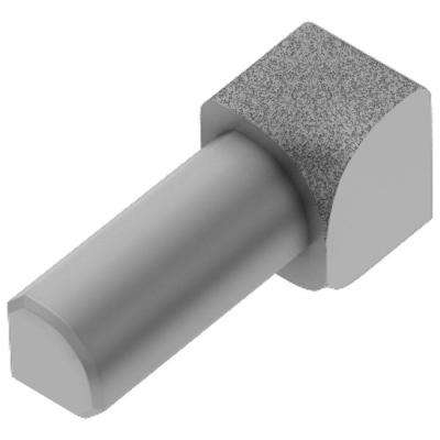 Rondec Pewter Textured Color-Coated Aluminum 1/2 in. x 1 in. Metal 90° Inside Corner