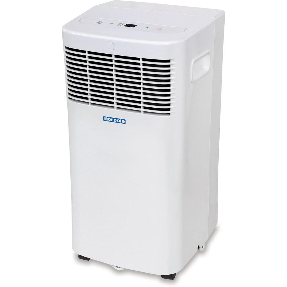 Norpole 8,000 BTU 3800 BTU (DOE) Portable Air Conditioner with Remote Control for Rooms up to 350 sq. ft. in White Norpole 8,000 BTU 3800 BTU (DOE) Portable Air Conditioner with Remote Control for Rooms up to 350 sq. ft. in White