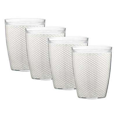 Fishnet 14 oz. White Insulated Drinkware (Set of 4)