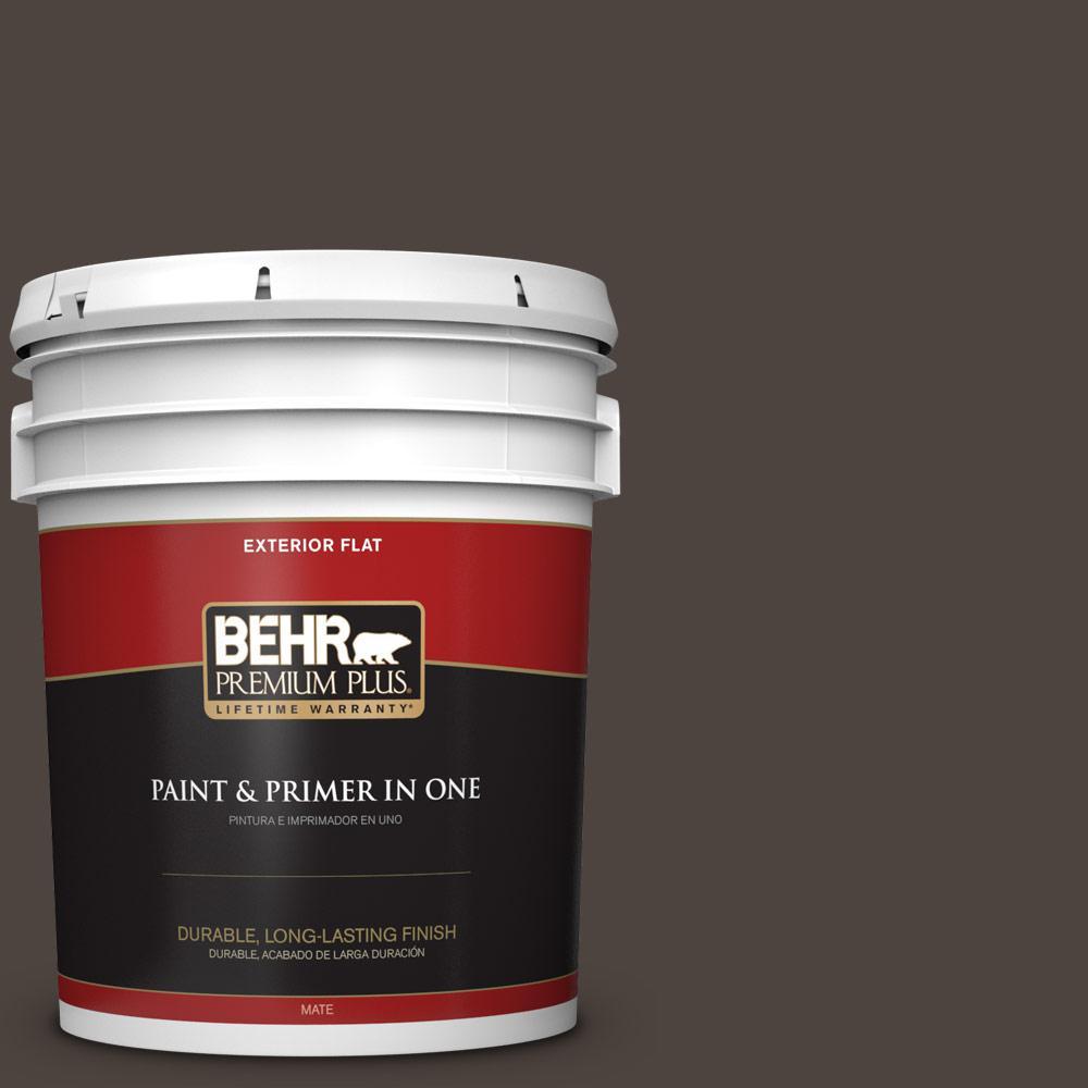 5 gal. #PPU5-01 Espresso Beans Flat Exterior Paint