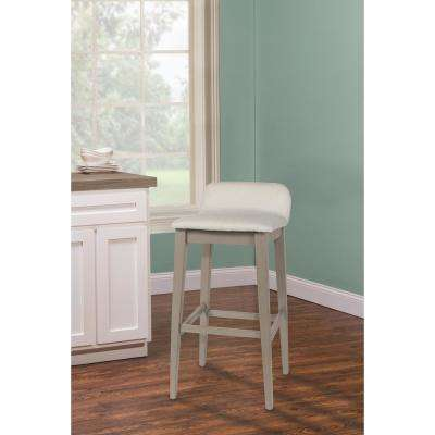 Maydena 26.25 in. Non-Swivel Distressed Gray Counter Stool