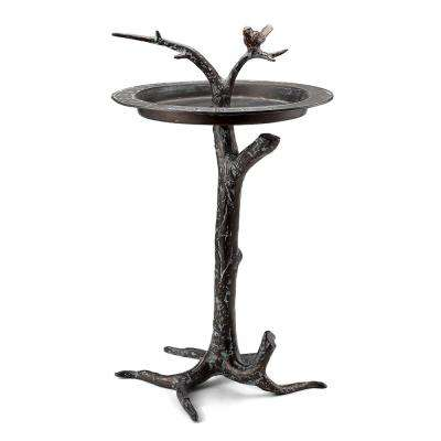 Bird and Twig Sundial Bird Bath