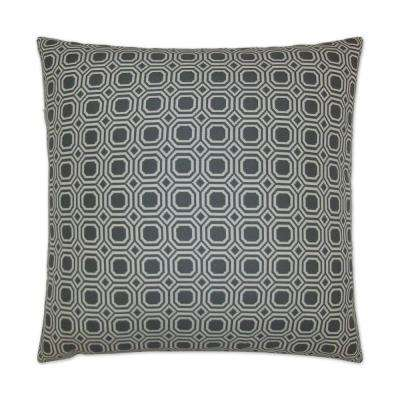 Blair Steel Feather Down 24 in. x 24 in. Standard Decorative Throw Pillow