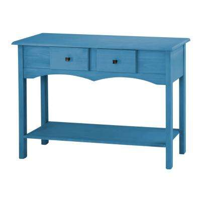 Jay 49.21 in. Blue Wash Sideboard Entryway with 2-Full Extension Drawers