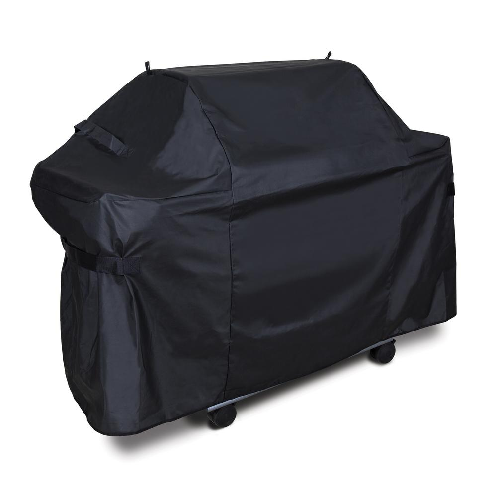 Deluxe 61 in. PVC/Polyester Grill Cover compatible with Genesis 300