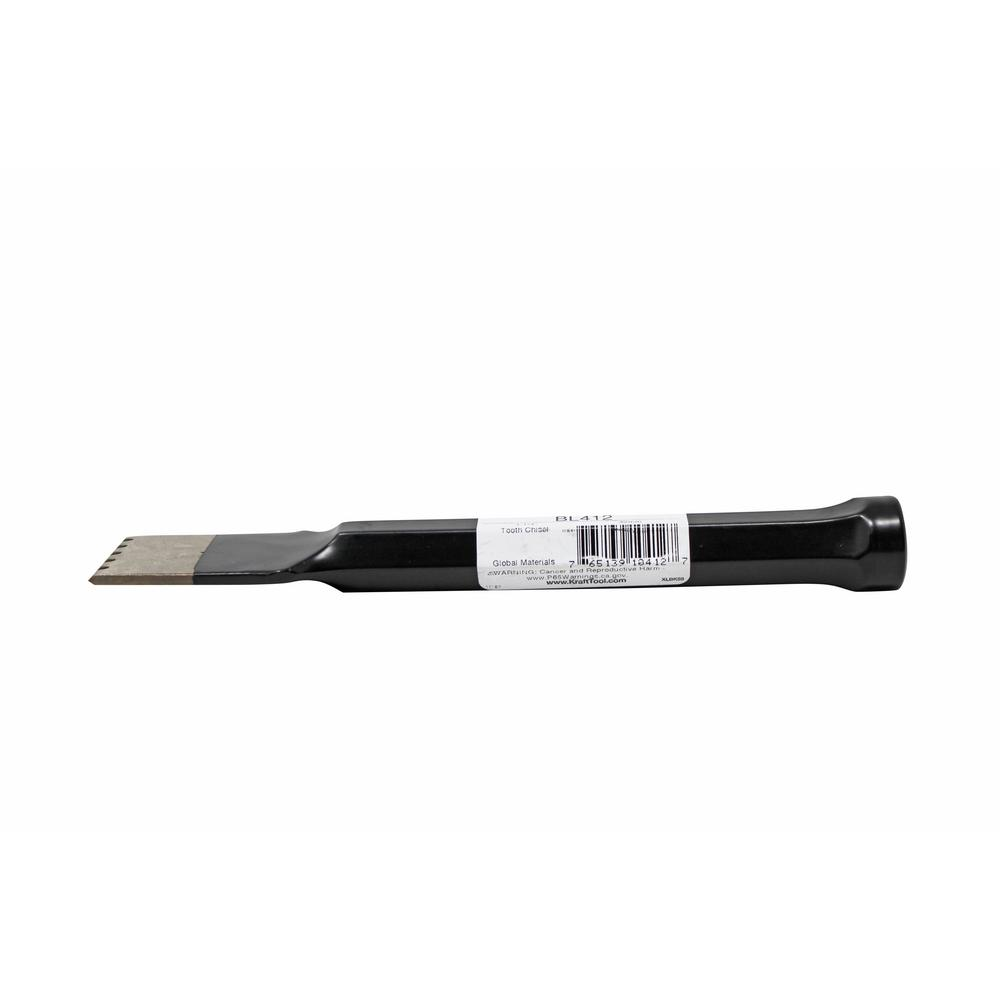 1-1/4 in. Toothed Stone Mason's Chisel