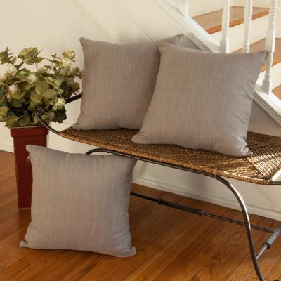 Natural Wovens 18 in. x 18 in. Gray Pillow Cover
