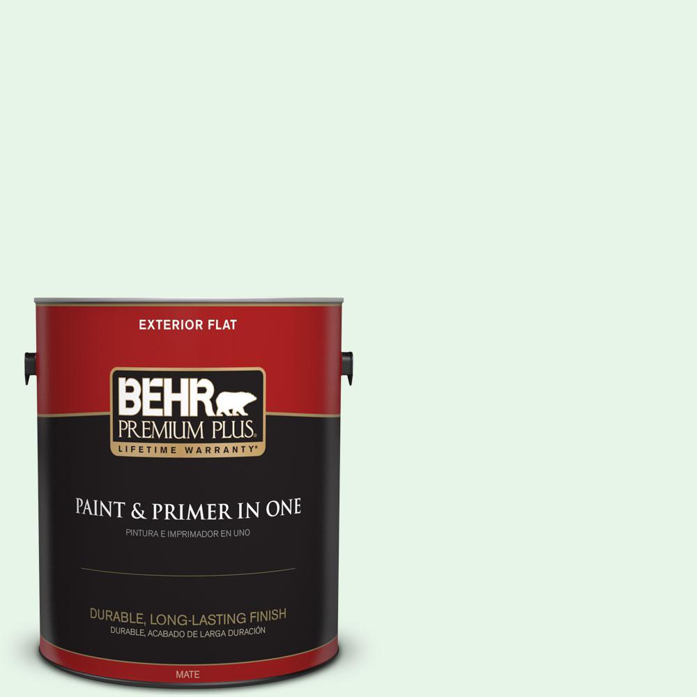 BEHR Premium Plus 1-gal. #450C-1 Dinner Mint Flat Exterior Paint