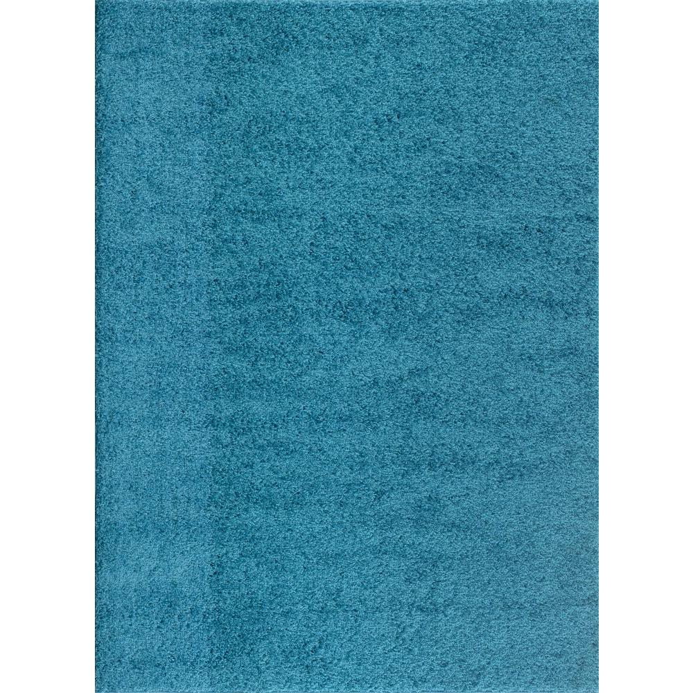 World Rug Gallery Soft Cozy Solid Turquoise 8 Ft X 10 Ft