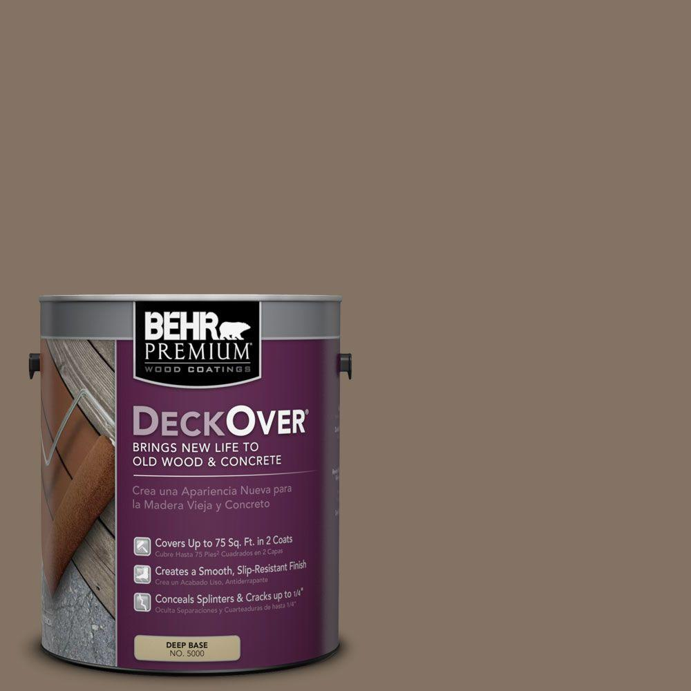 BEHR Premium DeckOver 1 gal. #SC-159 Boot Hill Grey Solid Color Exterior Wood and Concrete Coating