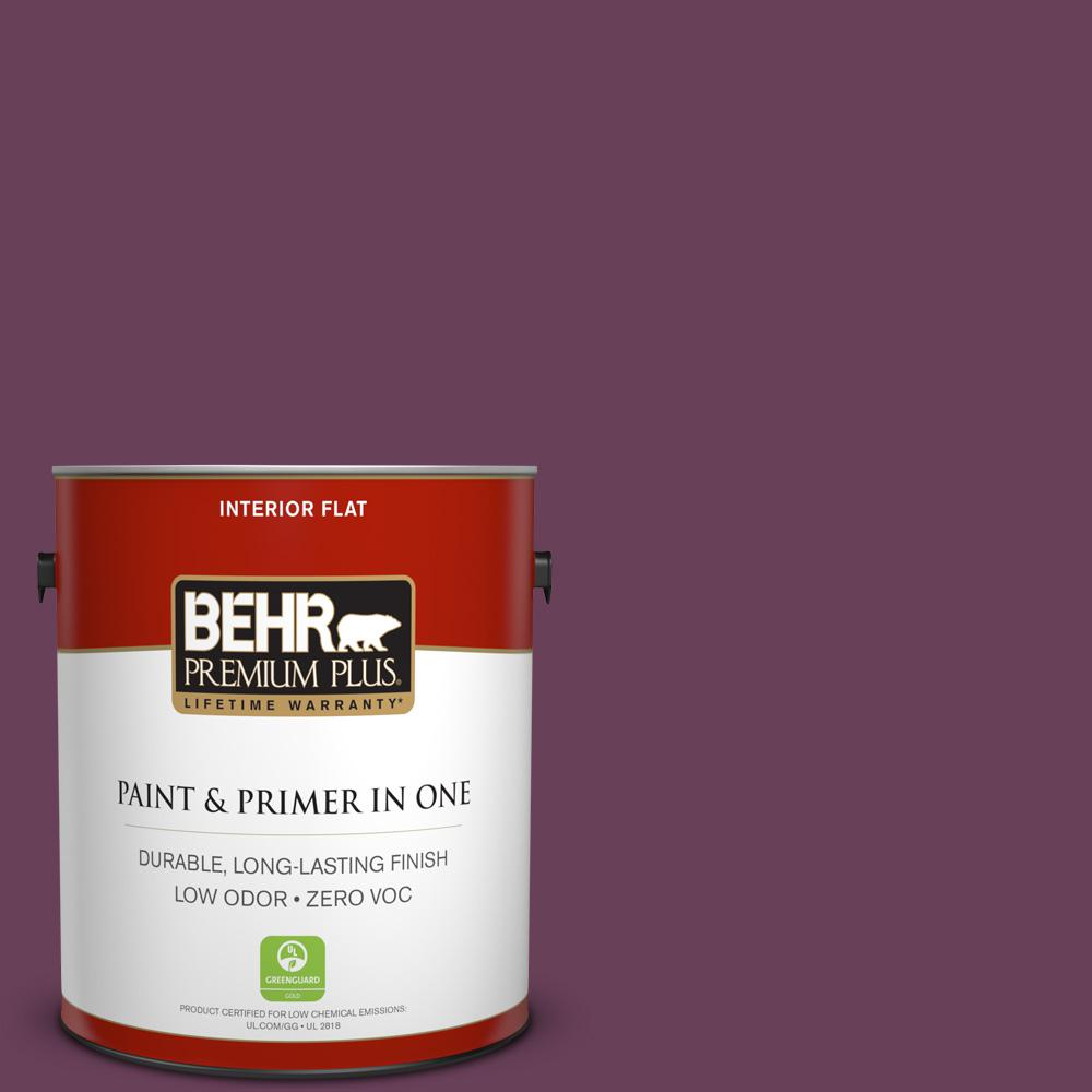 1 gal. #PPU1-20 Spiced Plum Zero VOC Flat Interior Paint