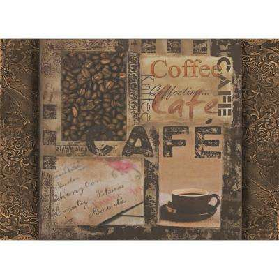 Morgan Home Brown Coffee House Placemat Set (4-Pack)