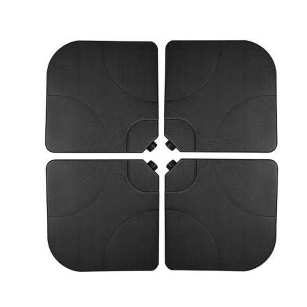 Cantilever Black Umbrella Base Weight Set