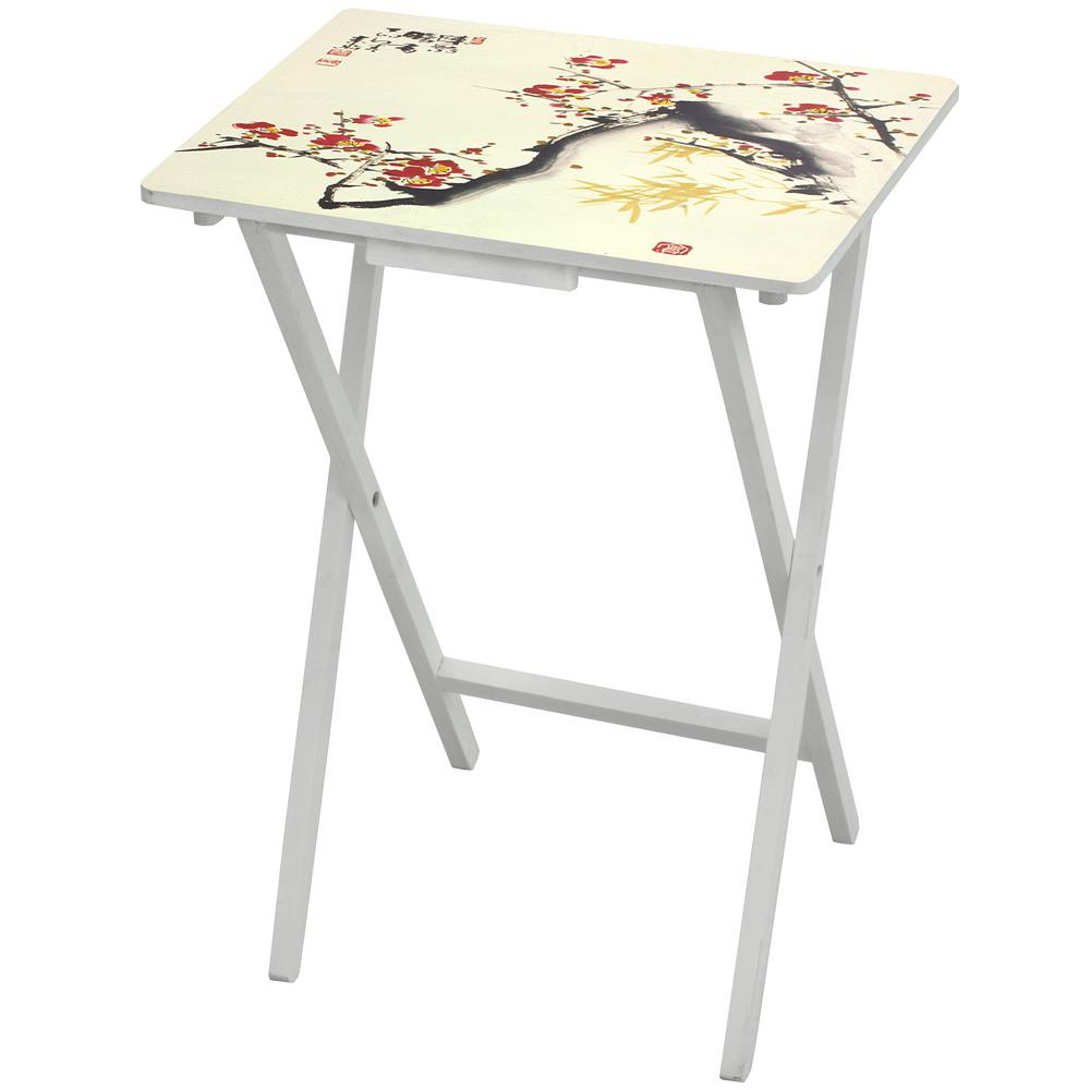 Oriental Furniture 19 in. x 13.75 in. Cherry Blossom TV Tray