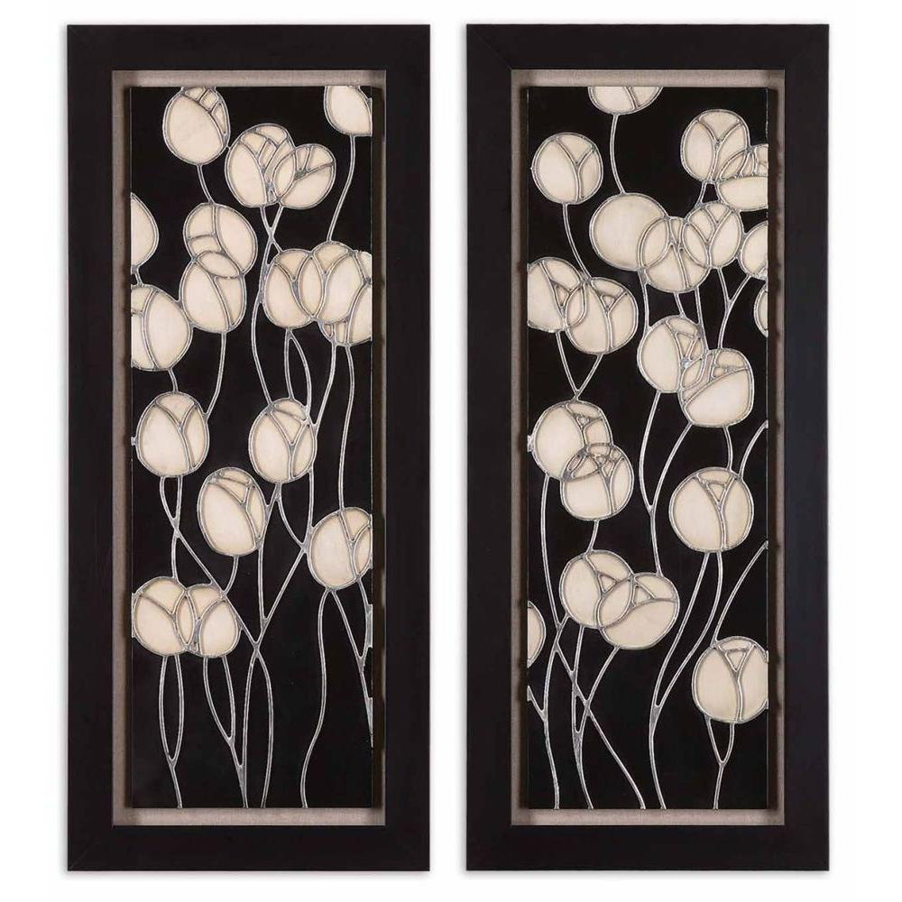Global Direct 18 in. x 42 in. Abstract Blosum 2-Piece Wall Art-DISCONTINUED