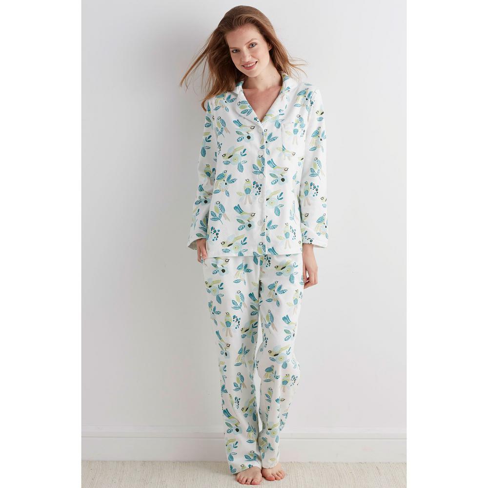 fa9ed771041d The Company Store Cotton Flannel Women s Small Birds Pajama Set ...
