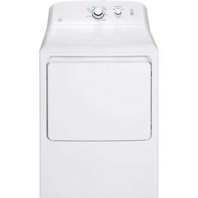 6.2 cu. ft. Gas Dryer in White