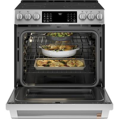 30 in. 5.7 cu. ft. Smart Slide-In Electric Range with Self-Cleaning Convection Oven in Stainless Steel