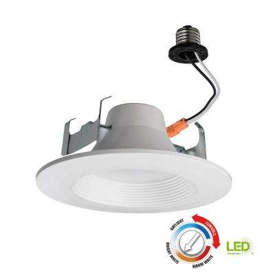 Bluetooth 5 in. and 6 in. 60w Equivalent White LED Recessed Trim with Color Temperature Changing Feature