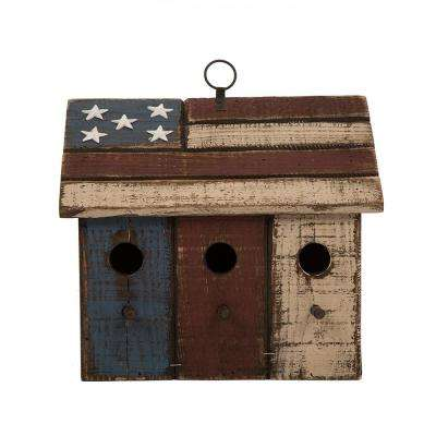 11.61 in. L Solid Wood Distressed Birdhouse