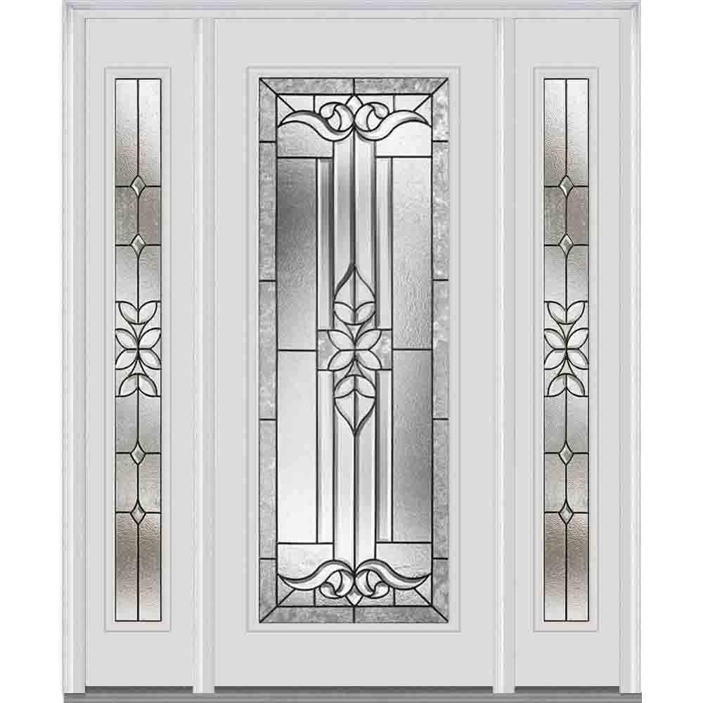 Mmi door in cadence decorative glass