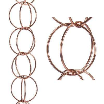 Double Link Pure Copper 8.5 ft. Rain Chain