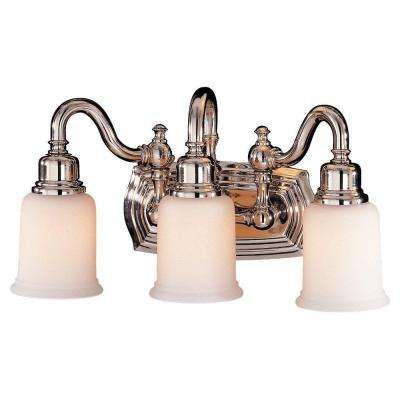 Canterbury 3-Light Polished Nickel Vanity Light