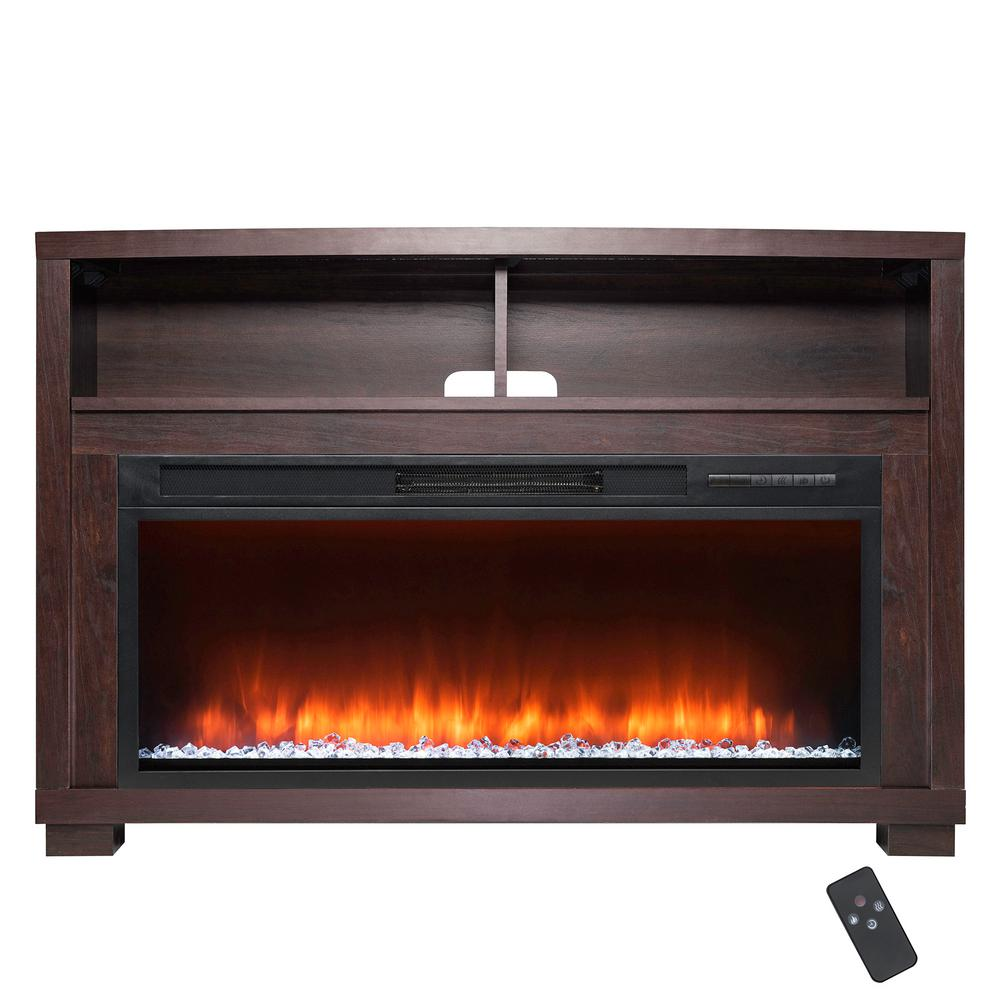 Akdy 44 In Freestanding Electric Fireplace Mantel Heater In Wooden