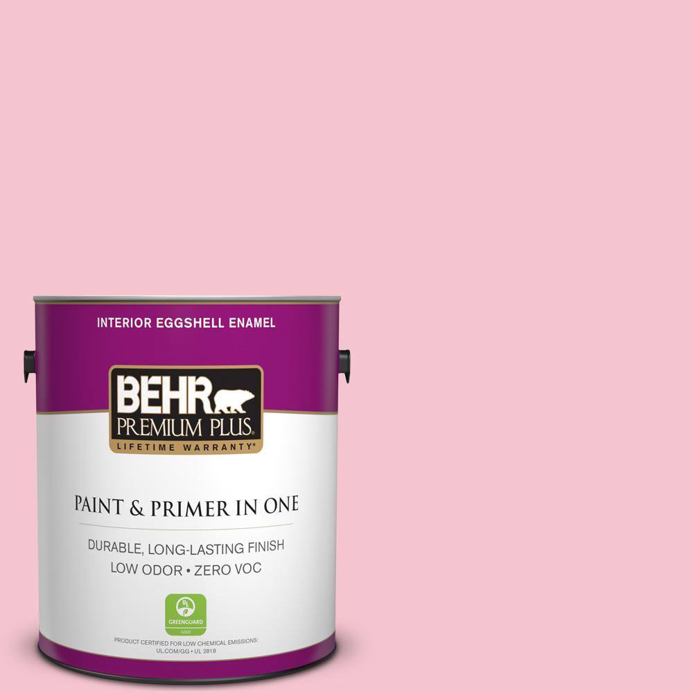BEHR Premium Plus 1-gal. #P150-2 Energetic Pink Eggshell Enamel Interior Paint
