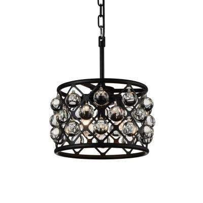 Renous 3-Light Black Pendant
