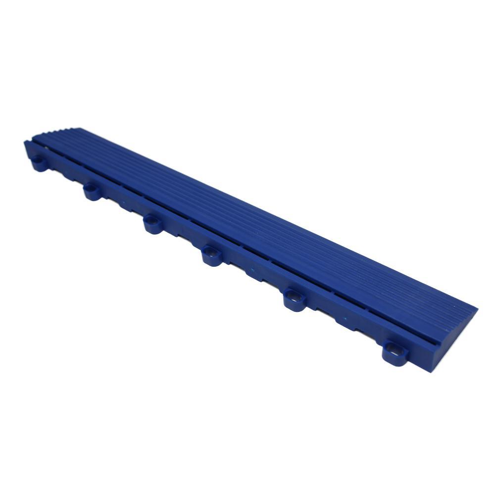 15.75 in. Royal Blue Looped Edging for 15.75 in. Swisstrax Modular Tile Flooring (2-Pack)