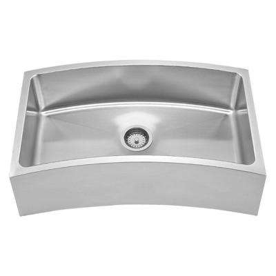 Farmhouse Apron Front Stainless Steel 31-5/8 in. Single Bowl Kitchen Sink in Brushed Stainless Steel