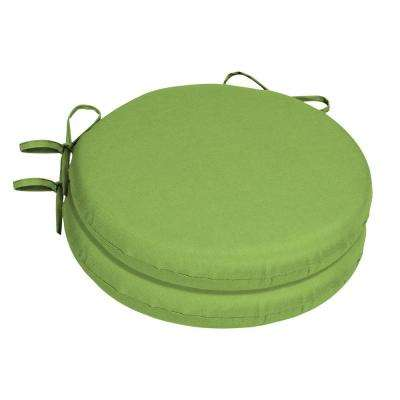 15 X 15 Outdoor Chair Cushion In Sunbrella Canvas Gingko (2 Pack)
