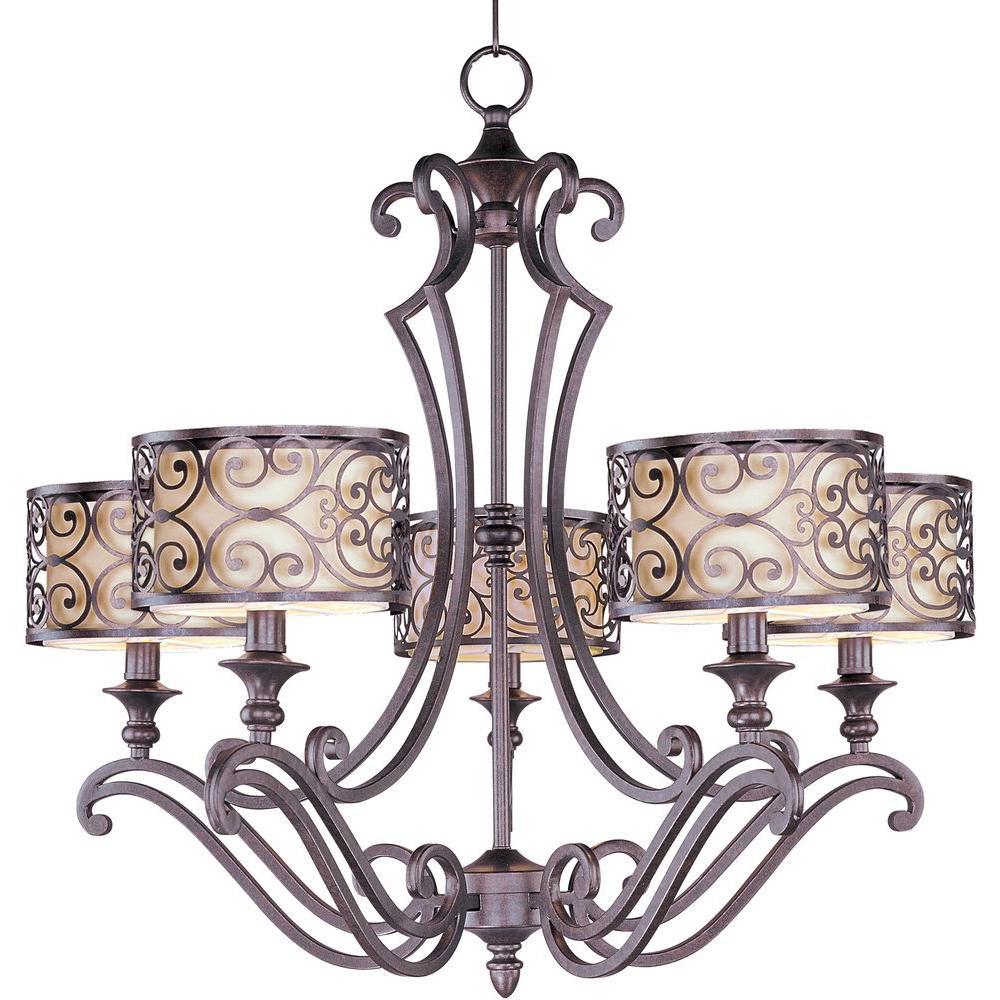 Maxim Lighting Mondrian 5-Light Umber Bronze Chandelier