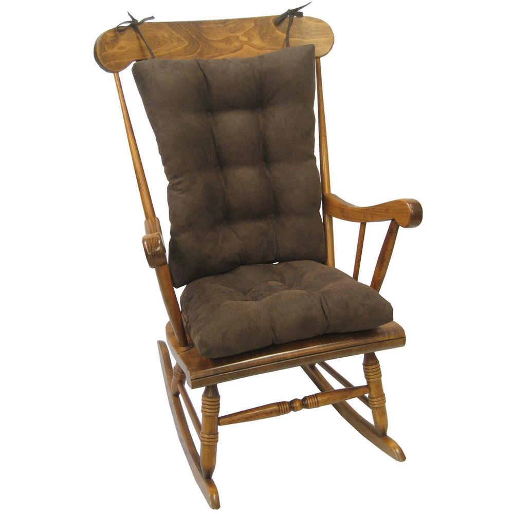 Undefined Gripper Twillo Chocolate Jumbo Rocking Chair Cushion Set