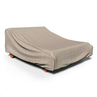 NeverWet Mojave Black Ivory Double Patio Chaise Cover
