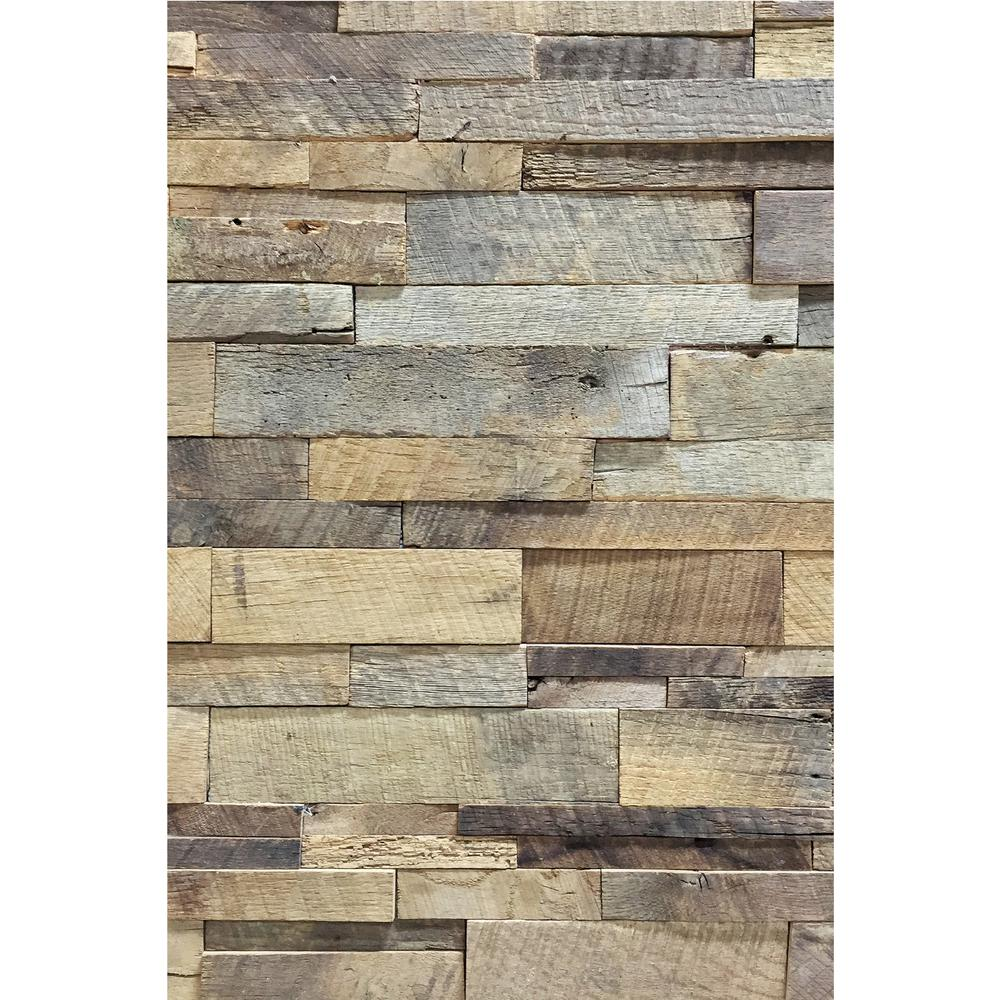 Reclaimed Natural American Barn Wood Wall Panel Abc Brn The Home Depot