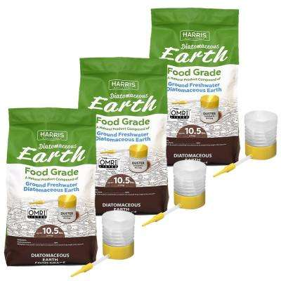 10.5 lbs. Diatomaceous Earth Food Grade 100% with 31.5 lbs. Powder Duster Applicator (3-Pack)