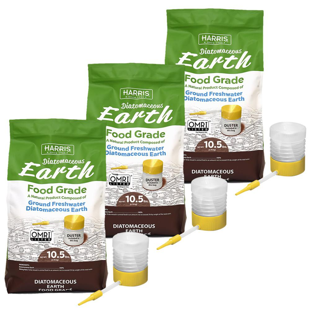 10.5 lbs. Diatomaceous Earth Food Grade 100% with 31.5 lbs. Powder