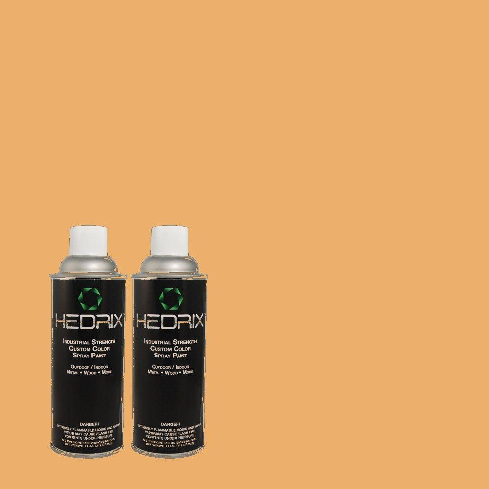 Hedrix 11 oz. Match of PMD-75 Autumn Gourd Flat Custom Spray Paint (2-Pack)