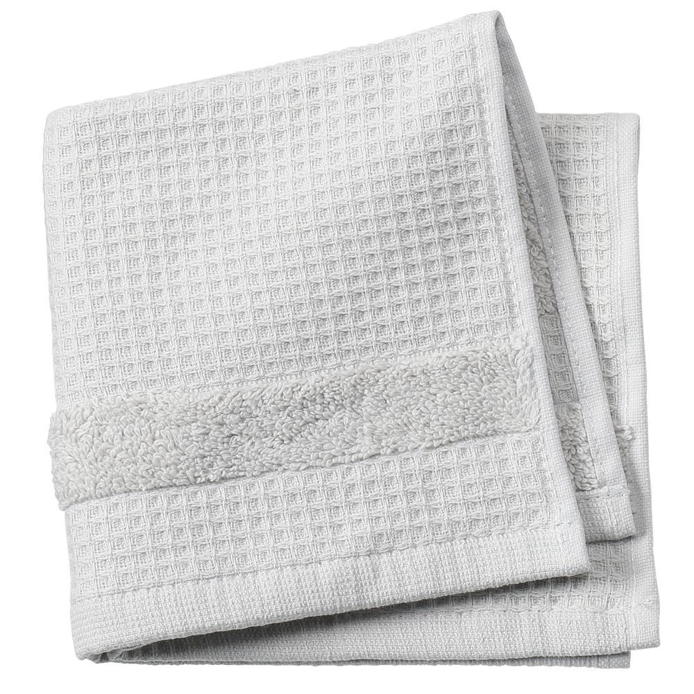 Verona Waffle 1-Piece Face Towel in Grey