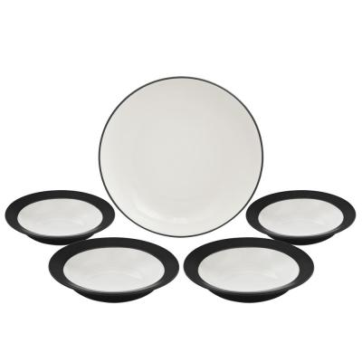 Colorwave Graphite Pasta Bowl (Set of 5)