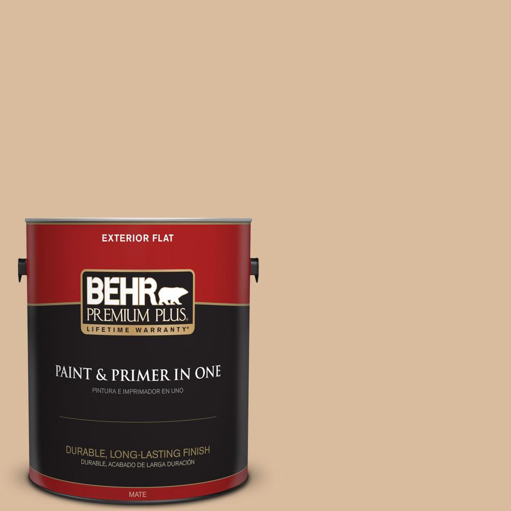 1-gal. #BXC-40 Soft Wheat Flat Exterior Paint