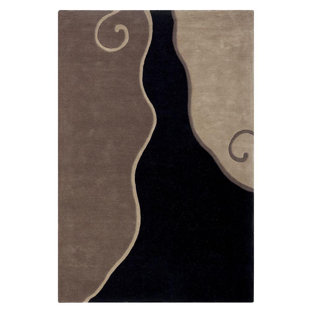 home decorators collection divani black taupe 8 ft x 11