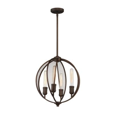 4-Light Bronze Chandelier