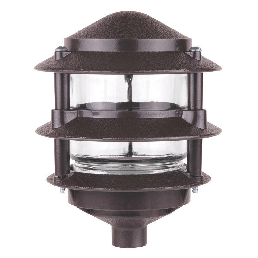 SiteLight 75-Watt Bronze 3-Tier Garden Light